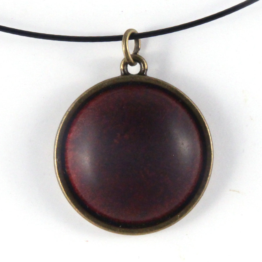 Wood & Metal Pendant: Padauk