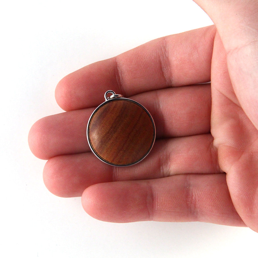 Wood & Metal Pendant: Canarywood - Small