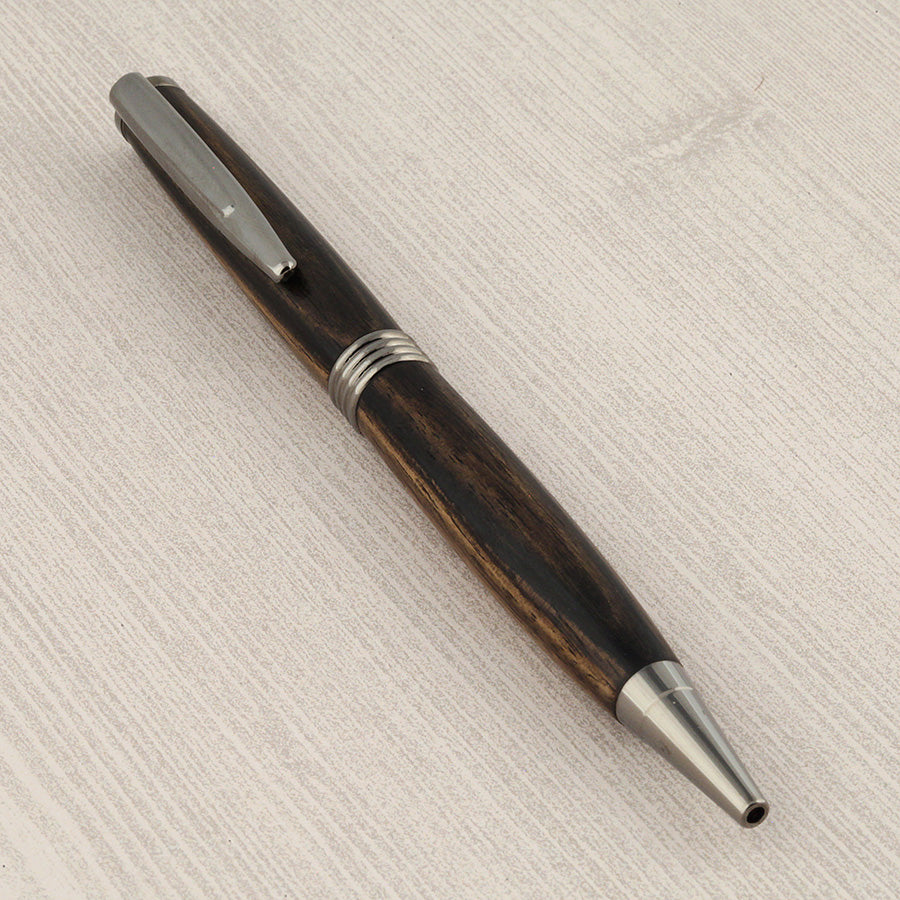 Trimline Twist Pen in Black & White Ebony