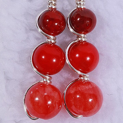 Pomegranate Sunset Earrings