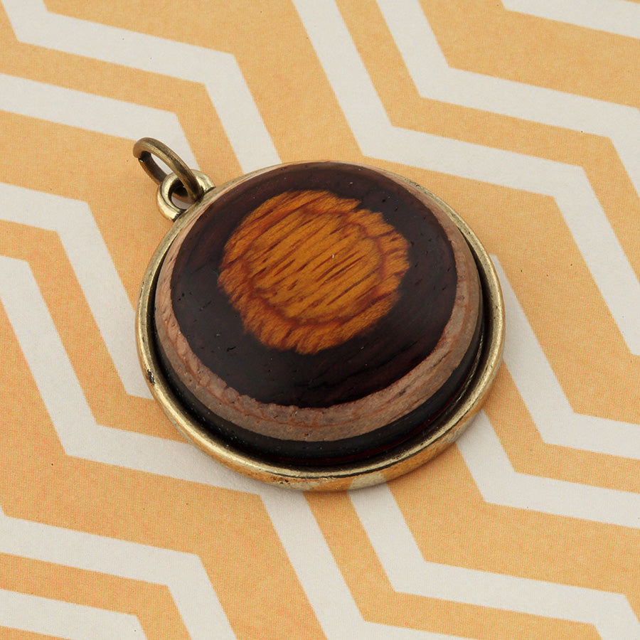 Wood & Metal Pendant: Bullseye