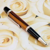 Manhattan Black & Chrome Rosewood Twist Pen