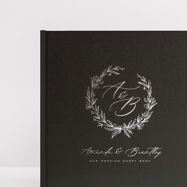 Fancy Wreath Guest Book