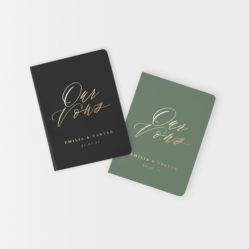 Fine Art Vow Books - Set of 2