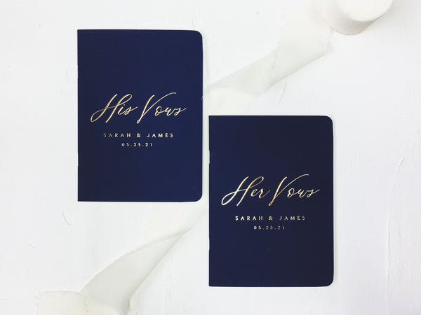 French Elegance Vow Books - Set of 2