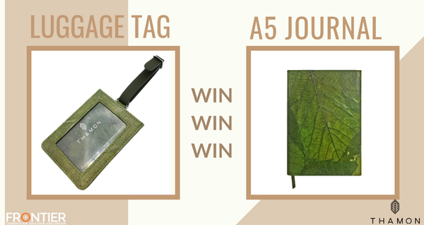WIN! A chance to get free A5 leaf journal and luggage tag.