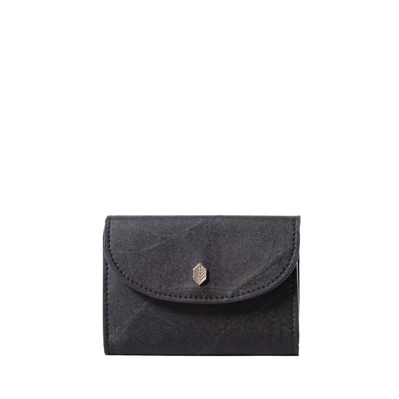 Black- pippa coin purse- women's wallet- leafleather- Thamonlondon