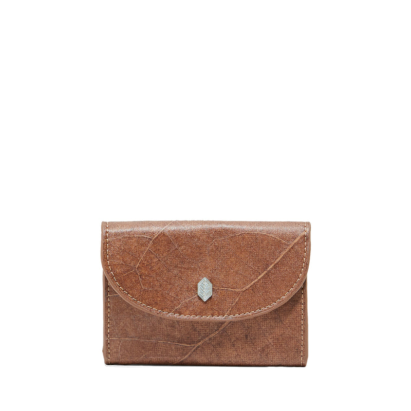 Brown- pippa coin purse- women's wallet- leafleather- Thamonlondon