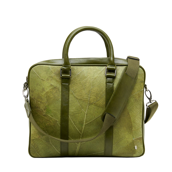 Cambridge briefcase-Business bag- Laptop bag -Green leaf leather-THAMON