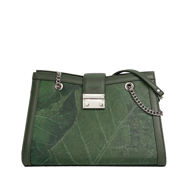 Green-Emma_shoulder_bag-vegan_leather-Thamon-product