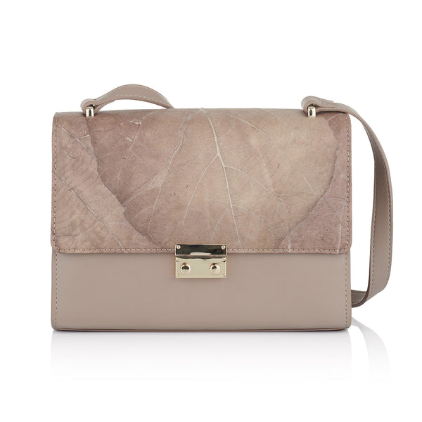 Kate leaf leather shoulder bag