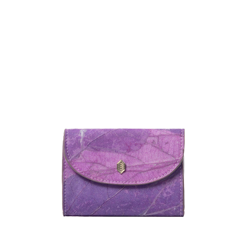 Purple- pippa coin purse- women's wallet- leafleather- Thamonlondon