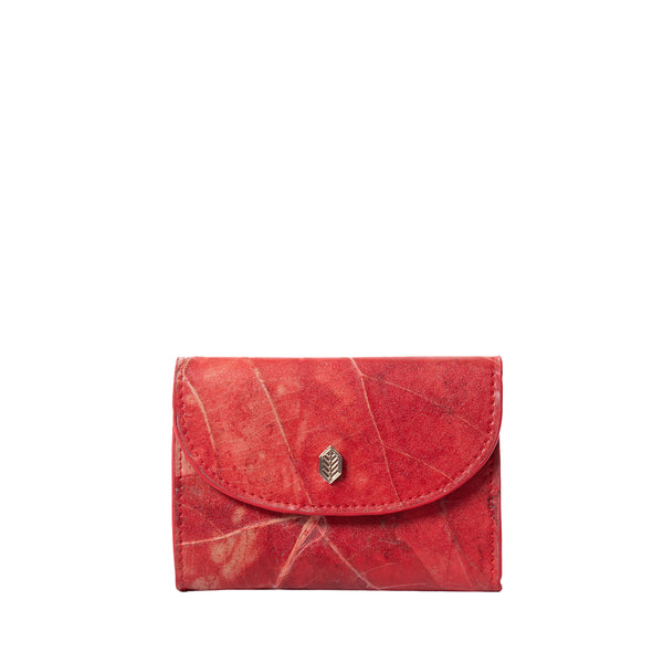 Red- pippa coin purse- women's wallet- leafleather- Thamonlondon