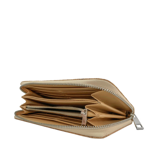 Zip_around_wallet-cork_leaf_leather-womenwallet-THAMON