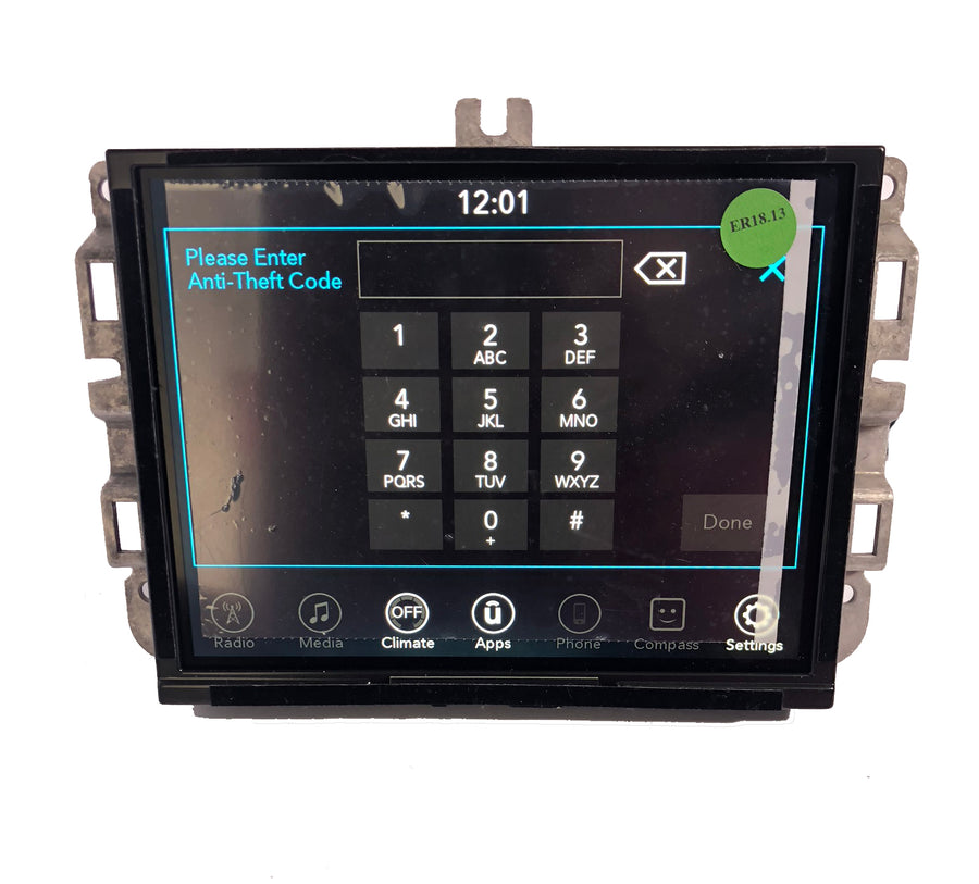 FCA Chrysler Uconnect Mygig RHR UAQ UAS RB5 VP3 VP4 Radio Code Finder