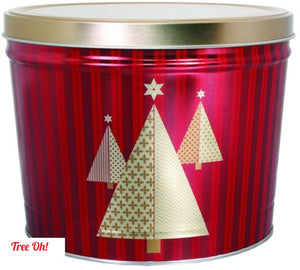 2 Gallon Holiday Tins