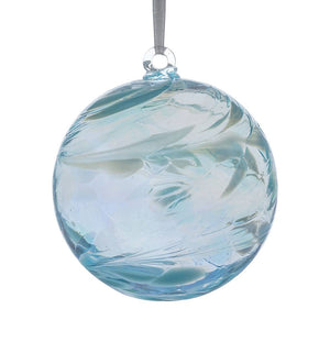 Shades of Aquamarine Friendship Ball (glass. approx. 10cm)