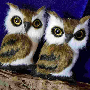 Brown & White Bright Eyes Owl (hangs or stands)