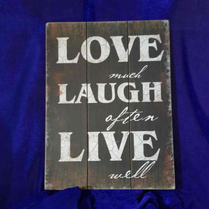 Love Laugh Live Wooden Wall Art