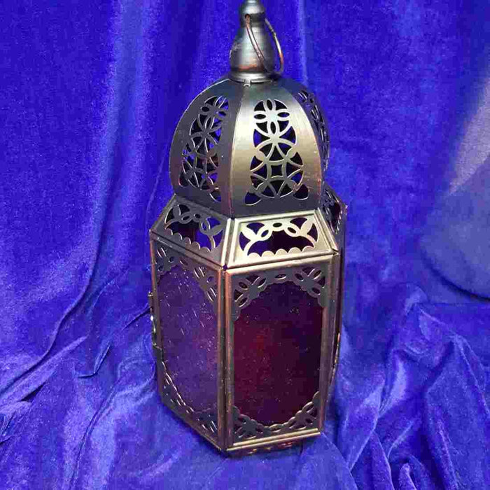 Purple & Red Moroccan Lantern
