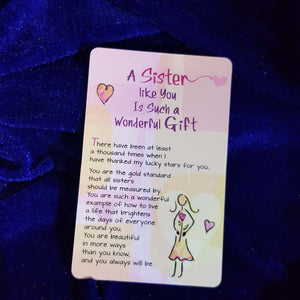 A Sister Like You Wallet Card