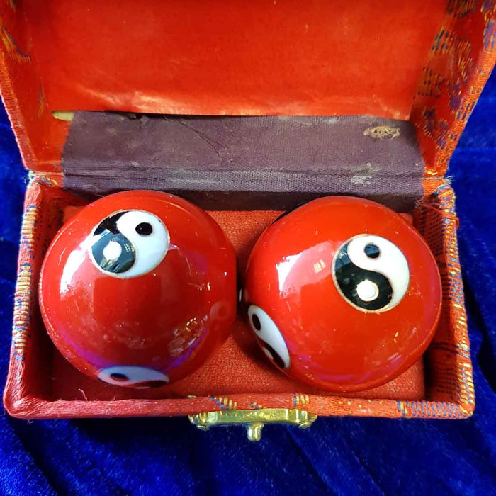 Red Yin Yang Health Balls