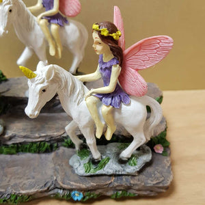 Pink & Purple Fairy & Her Unicorn (10cm assorted)
