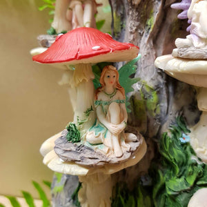 Fairy Sitting Under Mushroom (Asst Colours)
