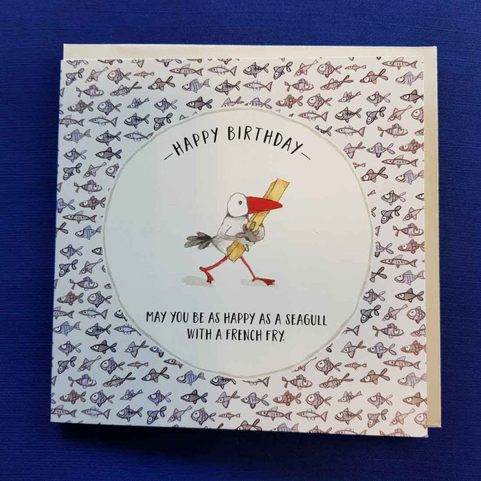 Happy as a Seagull Birthday Card