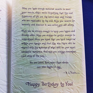Birthday Wishes For a Wonderful Son Greeting Card