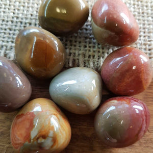 Polychrome Jasper Tumble. (assorted)