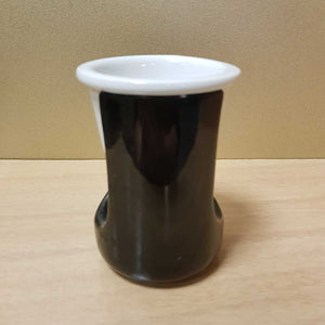 Black Tall Oil Burner with White Dish
