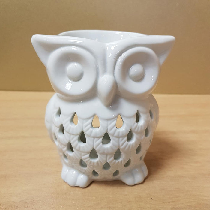 White Owl Oil Burner (approx 10x9x7cm)