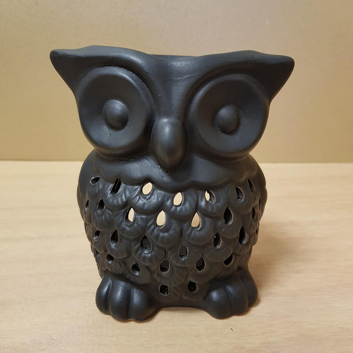 Black Owl Oil Burner (approx. 12x10.5x 8cm)