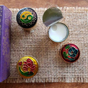 Buddha Delight Solid Fragrance in Cloisonne Tin. (Song of India 4gr)