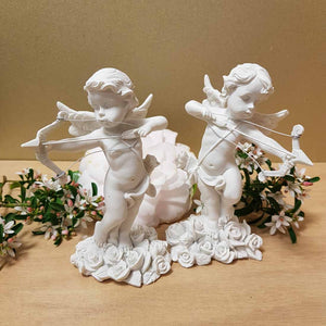 Cherub Angel with Bow & Arrow  (2 assorted) (13x10cm)