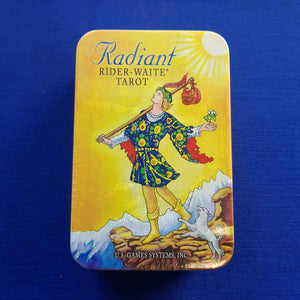 Radiant Rider Waite Tarot Cards in a Tin