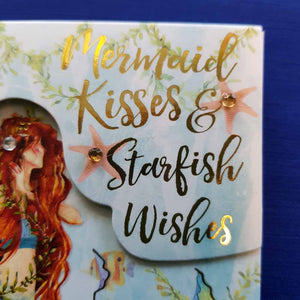 Mermaid Kisses & Starfish Wishes Bejewelled Notepad