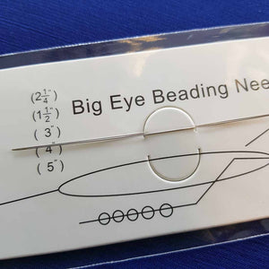 Big Eye Beading Needle (stainless steel colour) 75x.3mm