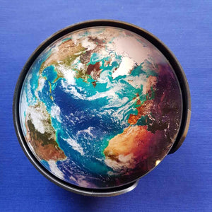 Earth Satellite Image Coaster Set (6) These are Glass