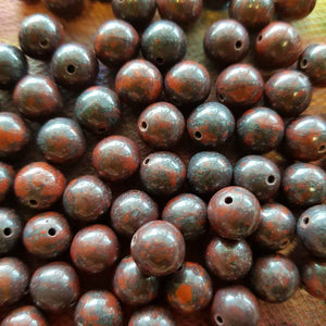 Bloodstone Bead (assorted. round. approx. 8mm)