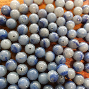 Blue Aventurine Bead (round. assorted. approx. 8mm)
