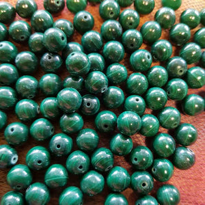 Malachite Bead (assorted. approx. 8mm)