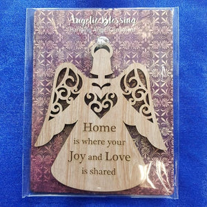 Home is Where Your Joy and Love is Shared Hanging Ornament (10x9cm)