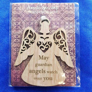 May Guardian Angels Watch Over You Hanging Ornament (10x9cm)