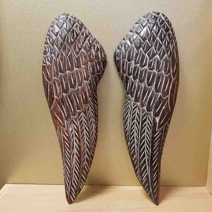 Greywash Angel Wings (set of 2) 40x12cm