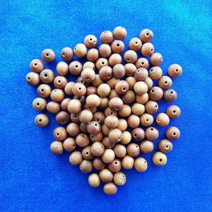 108 Sandalwood Loose Beads (8mm) to make your own Prayer/Mala Beads