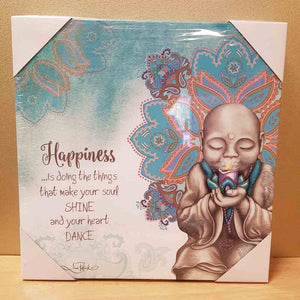 Happiness Mindful Soul LED Canvas (30x30cm)