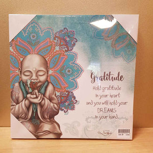 Gratitude Mindful Soul LED Canvas (30x30cm)