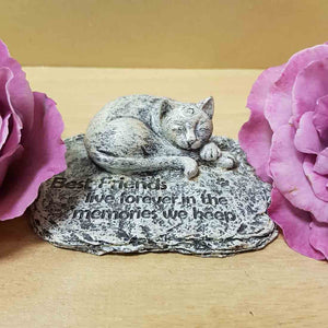 Best Friends Live Forever Cat Memorial (approx 10x8cm)